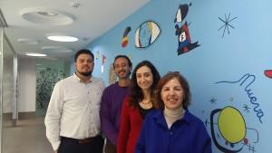 Reunión con Isaura Navarro, Compromís, en Nueva Opción.