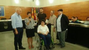 Lectura del Manifiesto por parte de la presidente a Adacea, Mª Carmen Ferrer.
